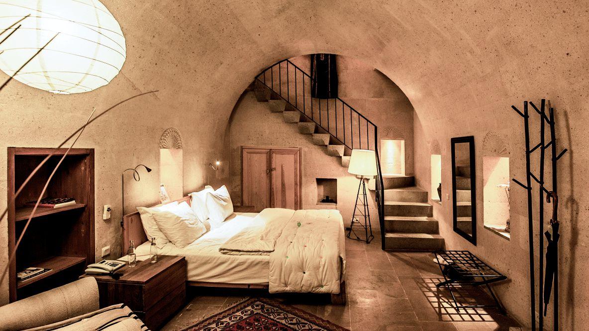 bedroom downstairs-argos in cappadocia turkey