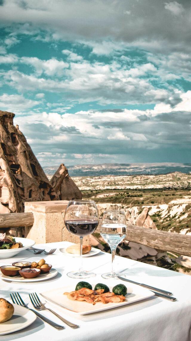 lunch view mountain-garden view-argos in cappadocia turkey