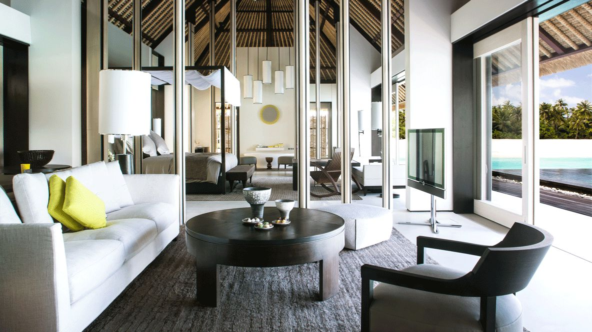 living room with ocean view-cheval blanc randheli maldives