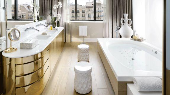 hotels in heaven mandarin oriental barcelona bathroom view luxury city side mirrors wooden floor tab sink