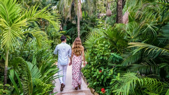 hotels in heaven viceroy riviera maya location accommodation rain forest plants couple longhair palm tree flower way woman man