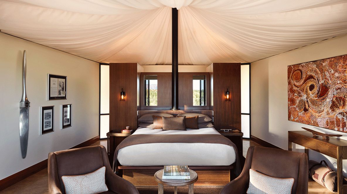 tent bedroom-longitude 131° australia