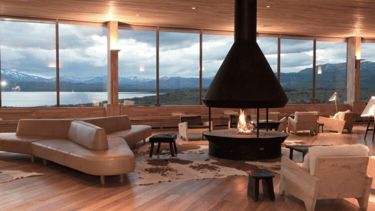 fireplace hotel-tierra patagonia chile