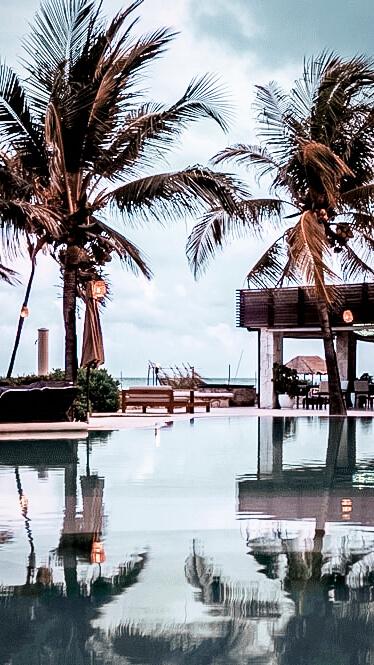 pool view ocean-viceroy riviera maya mexico