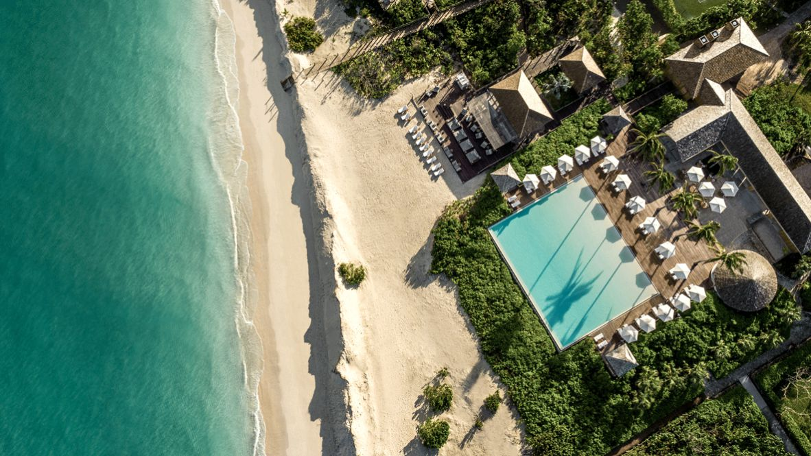 Hi 055026 93605572 COMO Beach Club and Lotus location sea beach beautiful sunshade plants palm tree luxury hotels in heaven houses pool