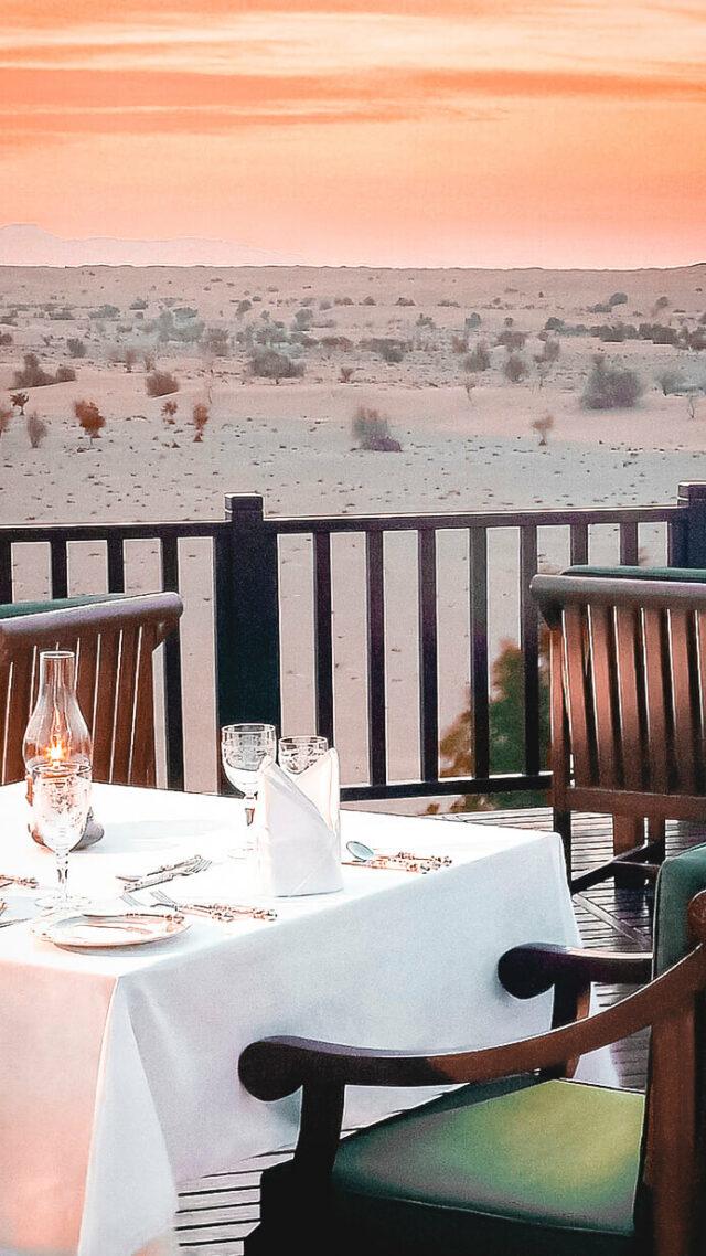 romantic dinner location-al maha desert resort uae