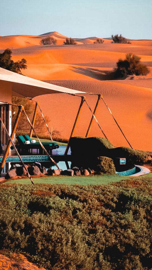 tent view-al maha desert resort uae