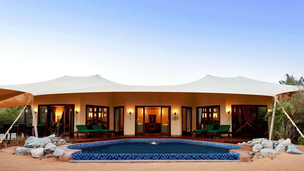tent with private pool-al maha desert resort uae
