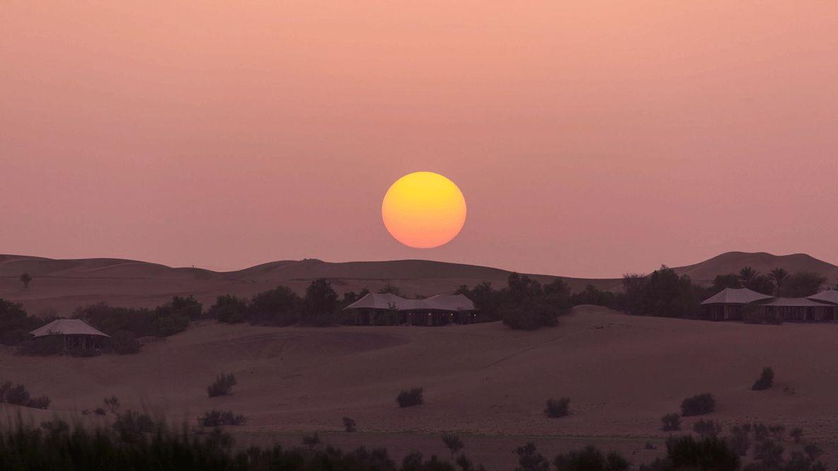 sunset hotel-al maha desert resort uae