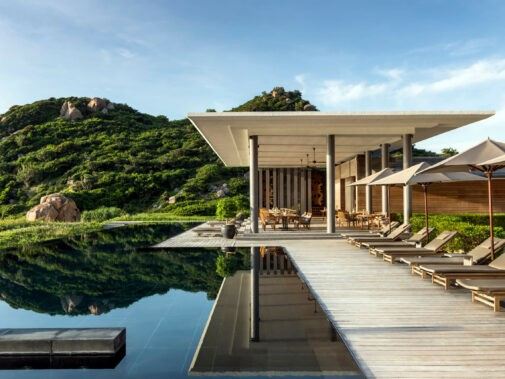 villa infinity pool-amanoi vietnam