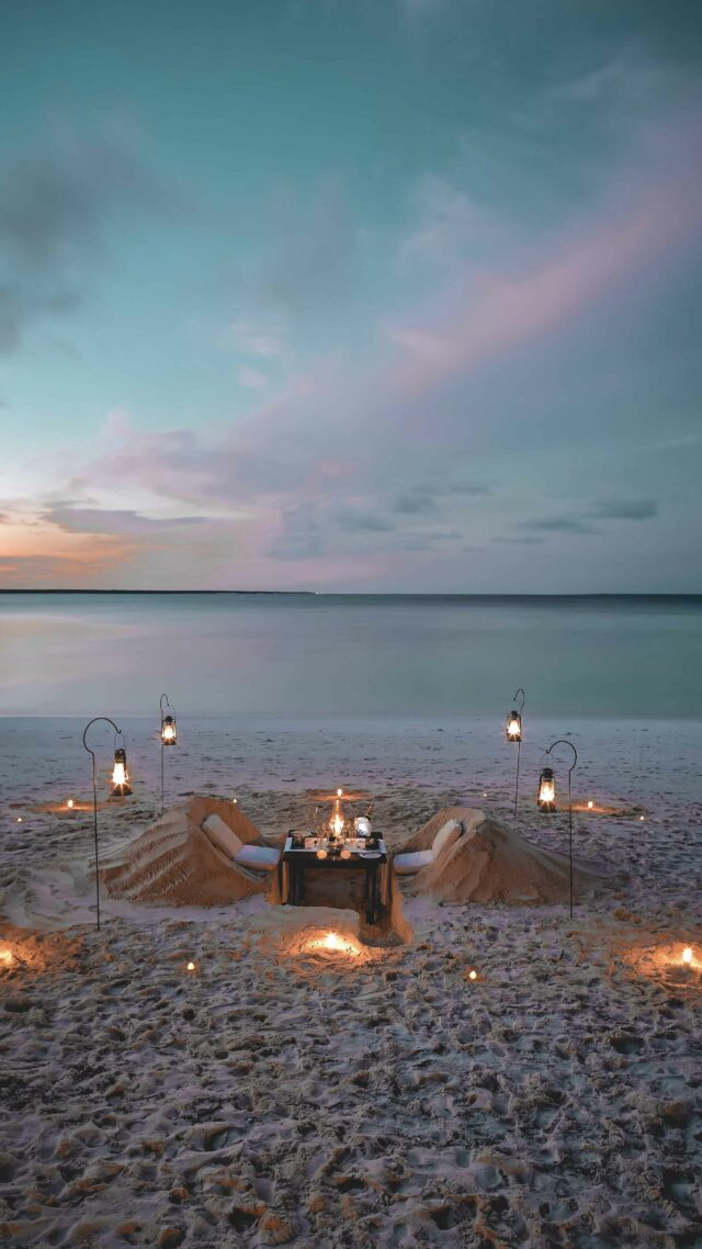 private romantic dinner-andbeyond mnemba island tanzania