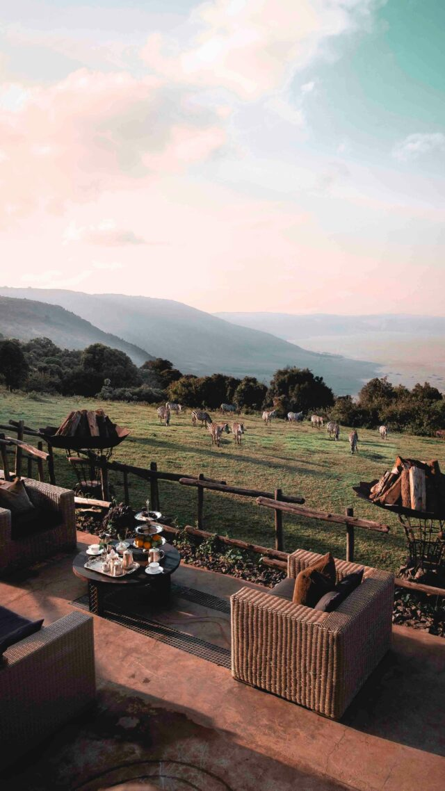 cozy terrace safari-andbeyond ngorongoro crater lodge tanzania
