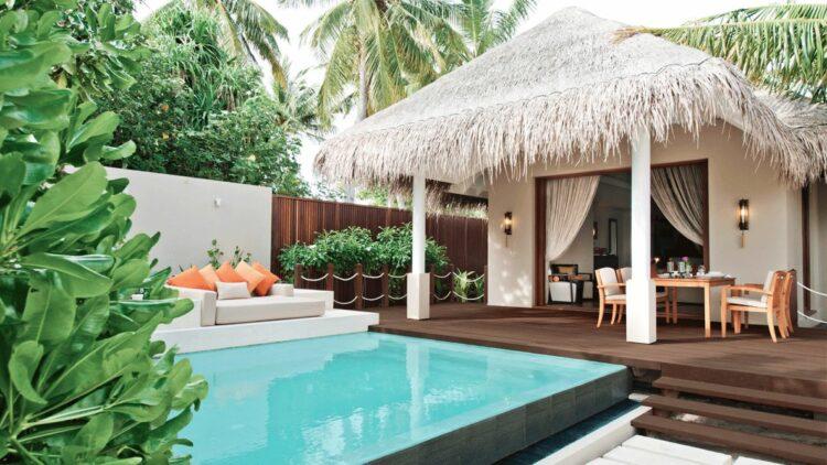 beach villa with pool-ayada maldives