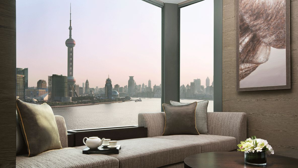 livingroom skyline shanghai-banyan tree shanghai on the bund