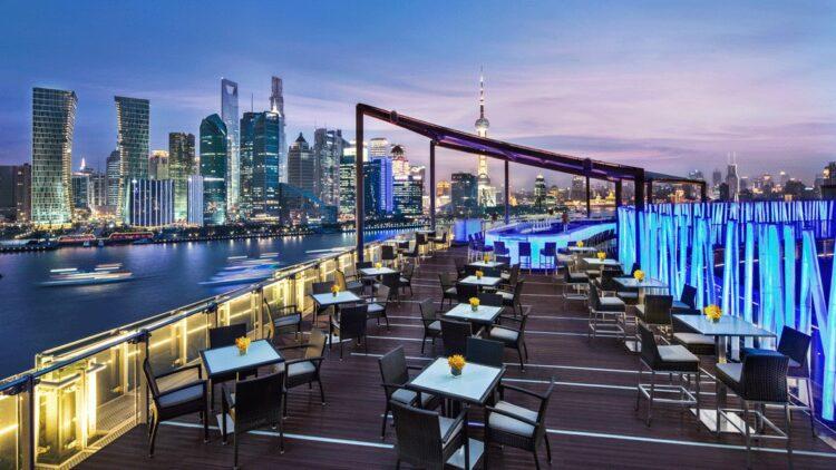 rooftop restaurant-banyan tree shanghai on the bund