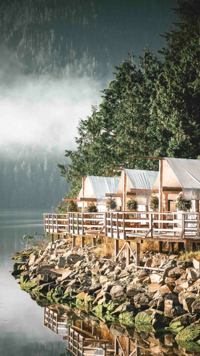 riverfront tents-clayoquot wilderness resort canada