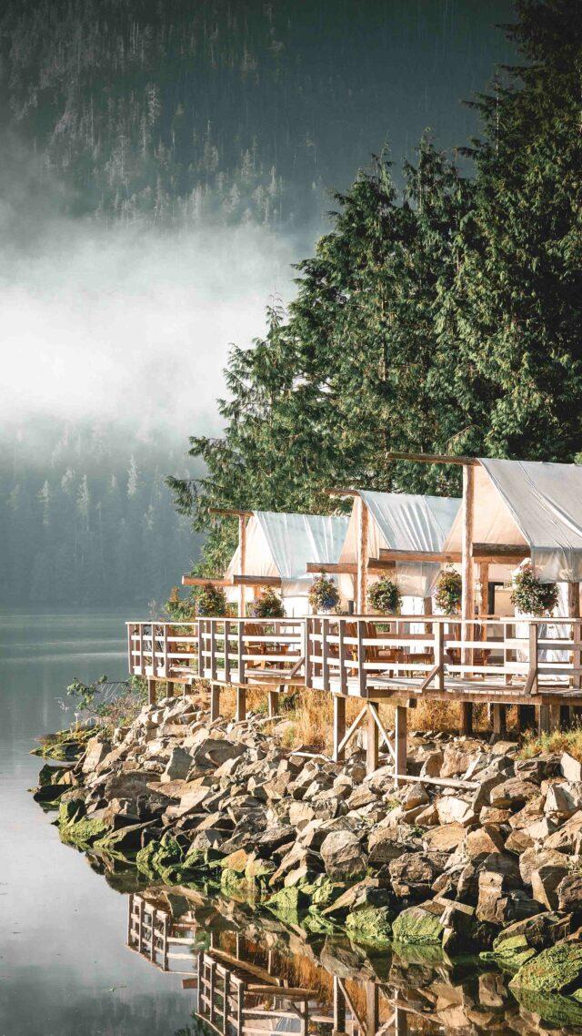 riverfront tents-clayoquot wilderness resort canada