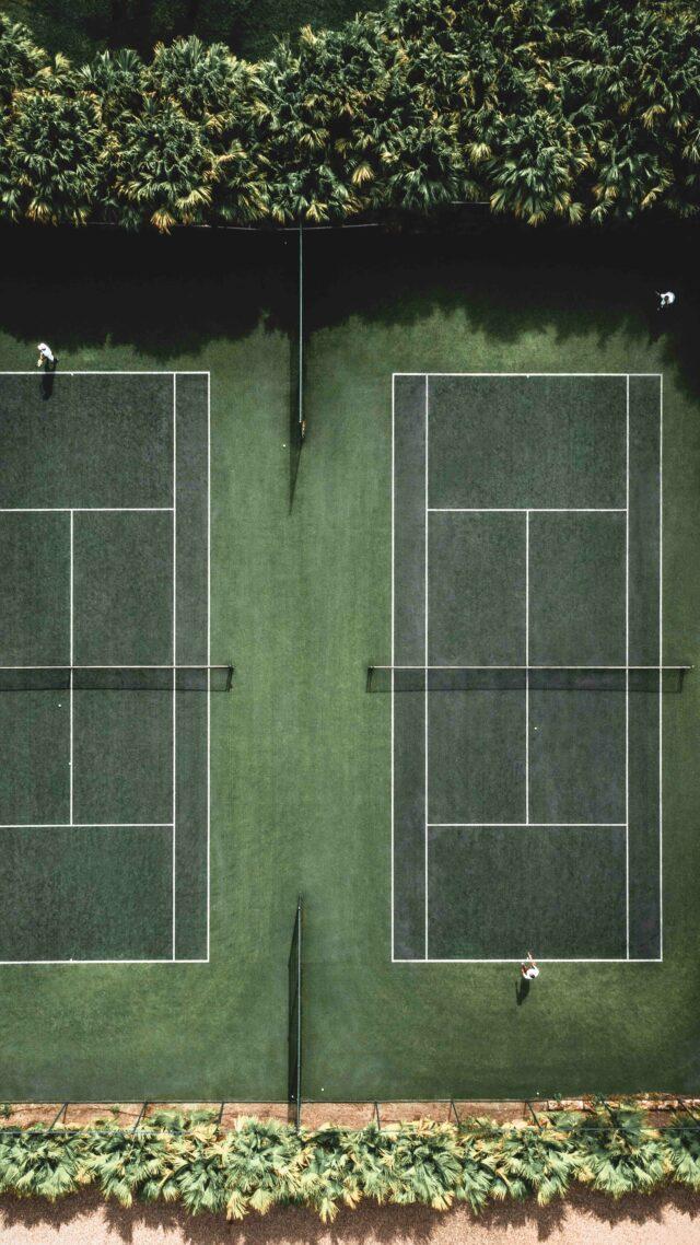 tennis court-como parrot cay turks and caicos