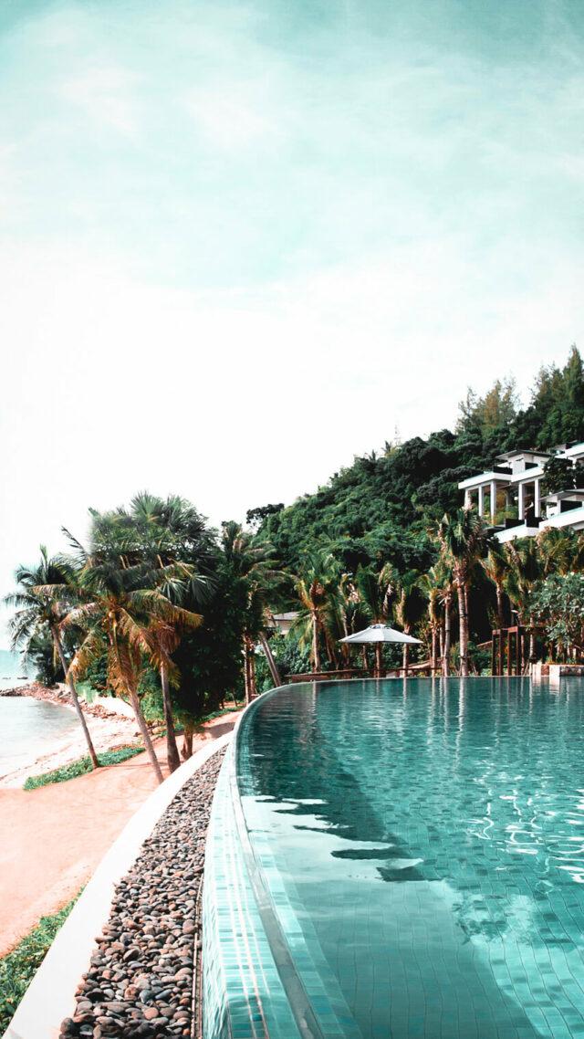 pool beach view-conrad koh samui thailand