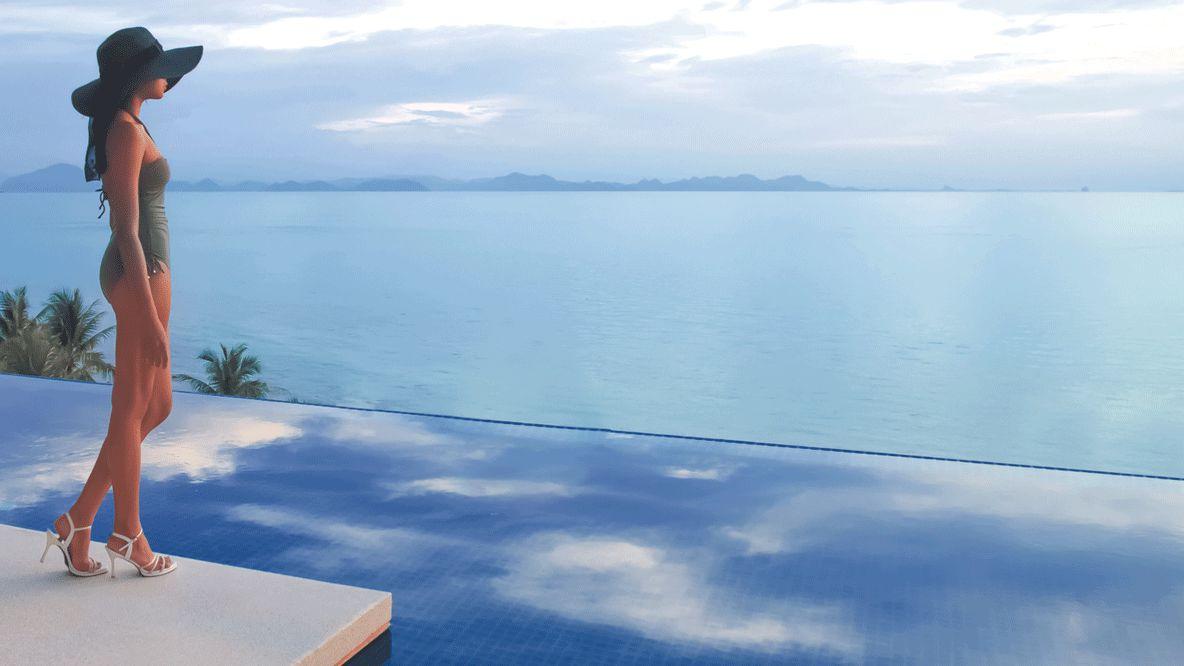 infinity pool koh samui-conrad koh samui thailand