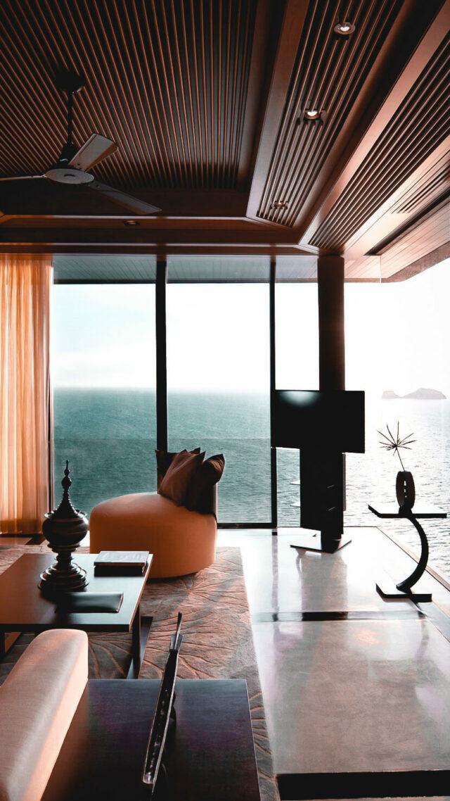 livingroom hotel-conrad koh samui thailand