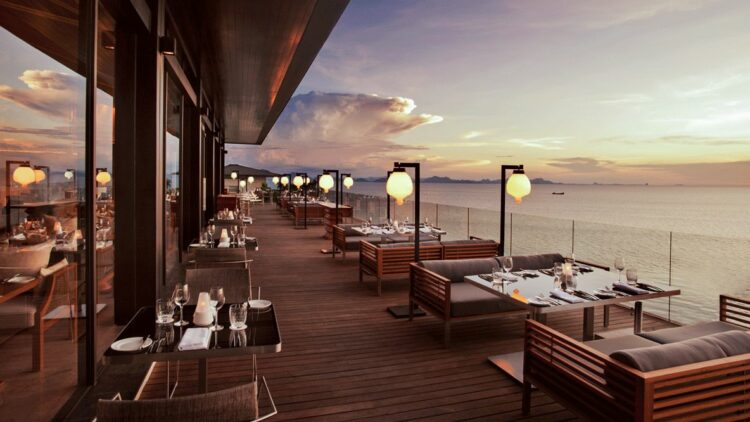 restaurant view-conrad koh samui thailand
