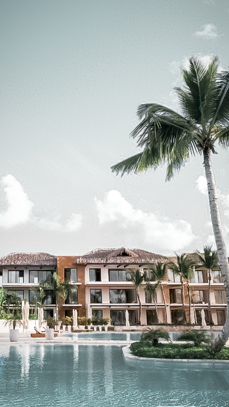facade hotel pool-eden roc cap cana dominican republic