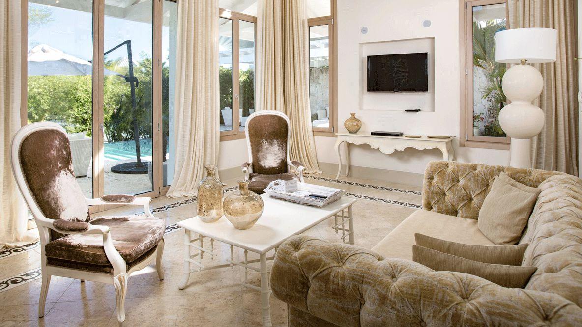 spacious living room-eden roc cap cana dominican republic
