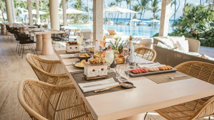 lunch by the pool-eden roc cap cana dominican republic