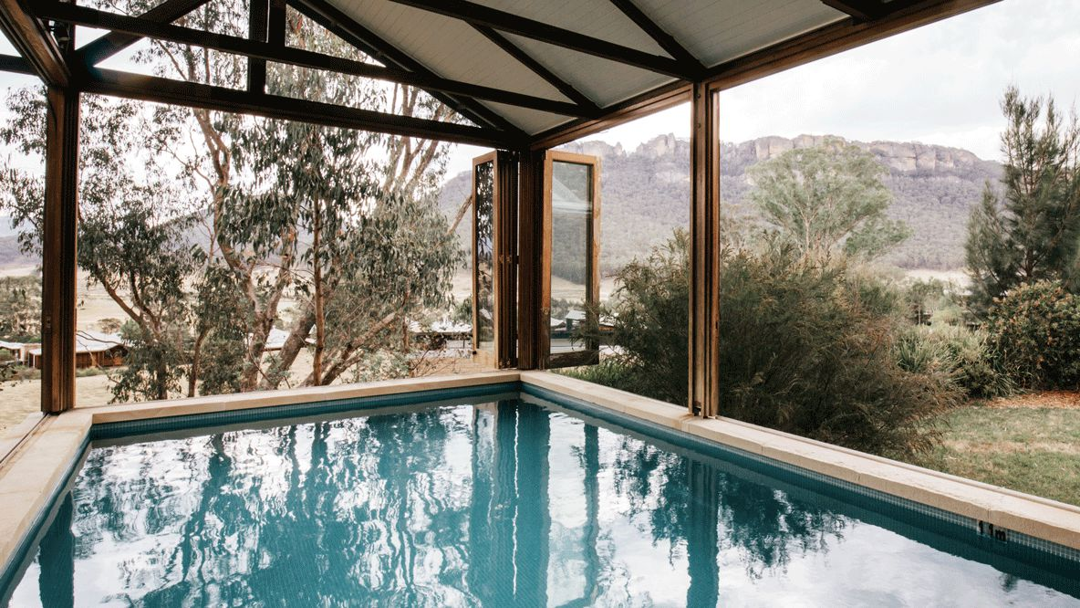 private indoor pool-emirates one&only wolgan valley australia
