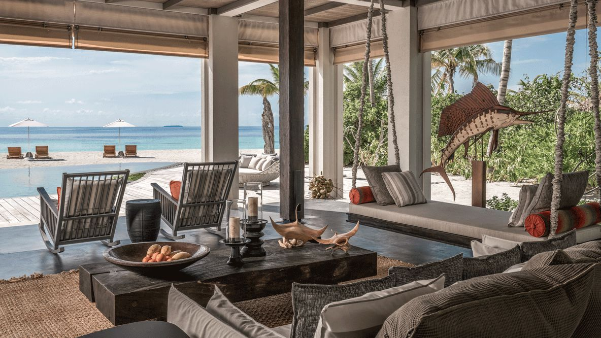 livingroom suite-four seasons private island at voavah