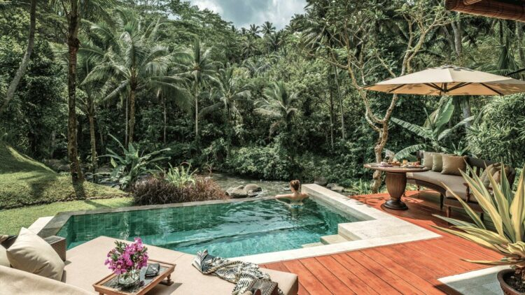 riverfront villa-four seasons resort bali at sayan