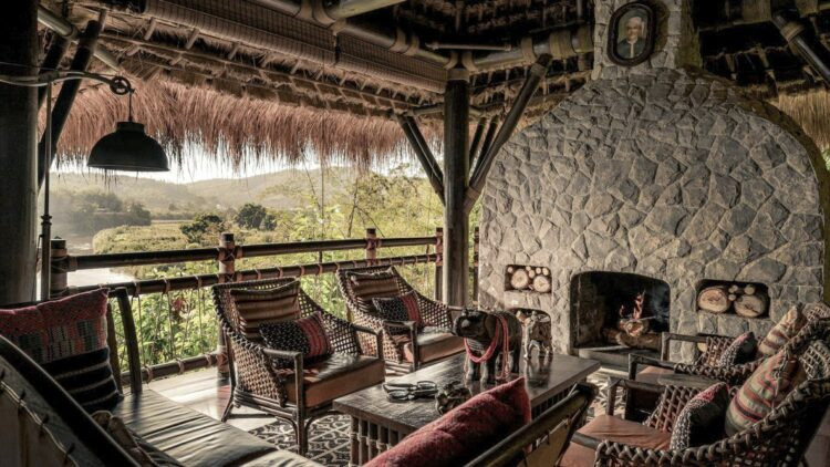 four-seasons-tented-camp-golden-triangle-lounge-fireplace