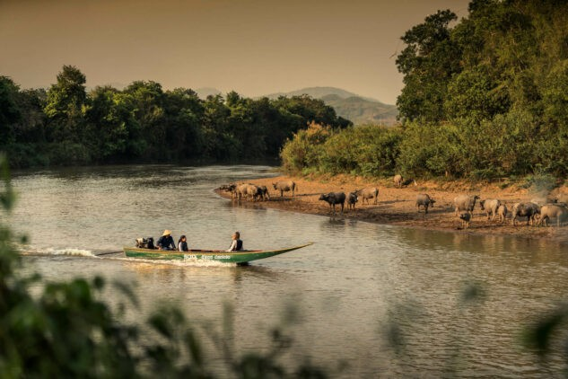 boat trip-four seasons tented camp golden triangle thailand