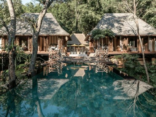 explorers lodge villa-four seasons tented camp golden triangle thailand