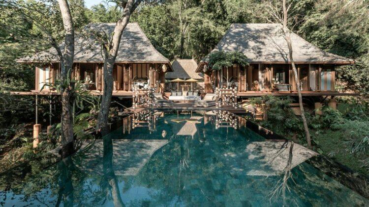 explorers lodge villa-four seasons tented camp golden triangle thailand