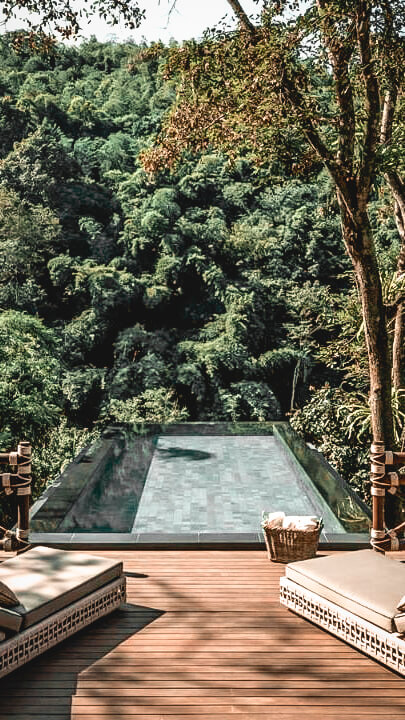 jungle pool view-four seasons tented camp golden triangle thailand
