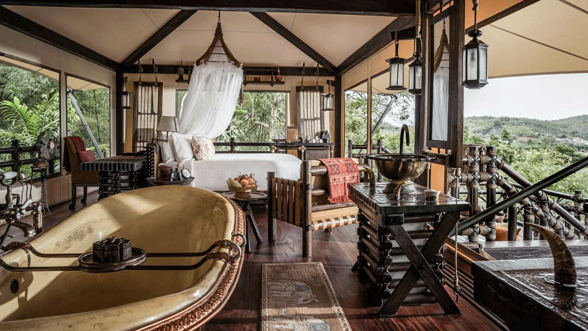 private luxury tent-four seasons tented camp golden triangle thailand