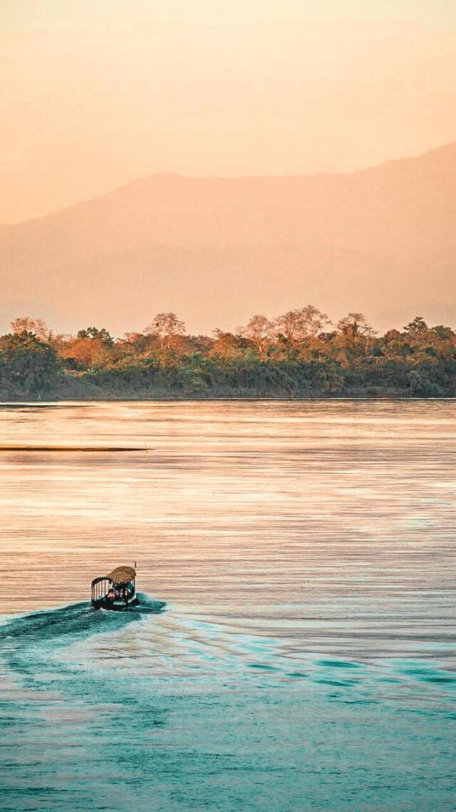 ruak river sunset-four seasons tented camp golden triangle thailand