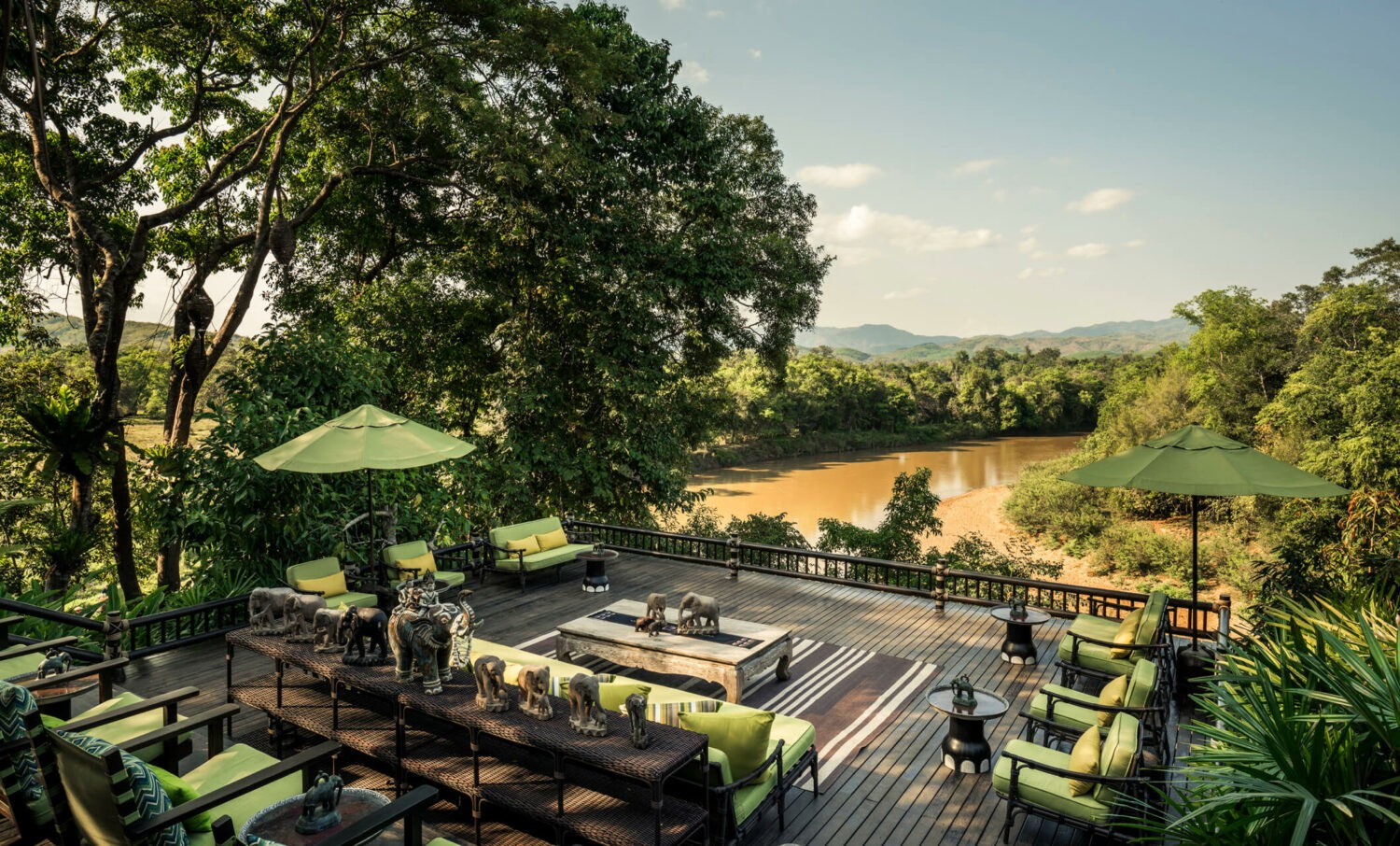 terrace-four seasons tented camp golden triangle thailand