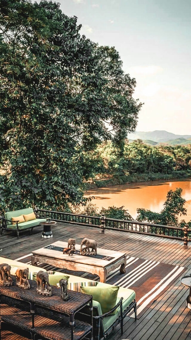 river view terrace-four seasons tented camp golden triangle thailand