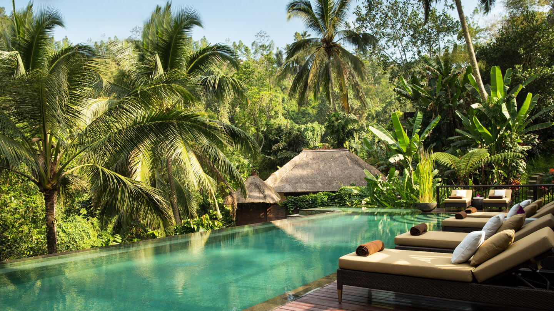 infinity pool hotel-hanging garden of bali