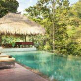 infinity pool jungle-hanging garden of bali