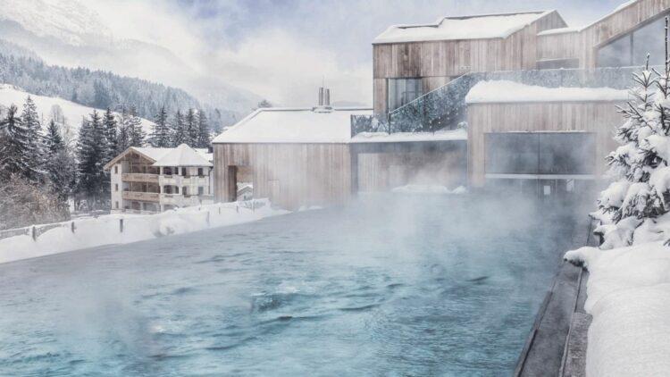 heated pool outside-hotel forsthofgut austria