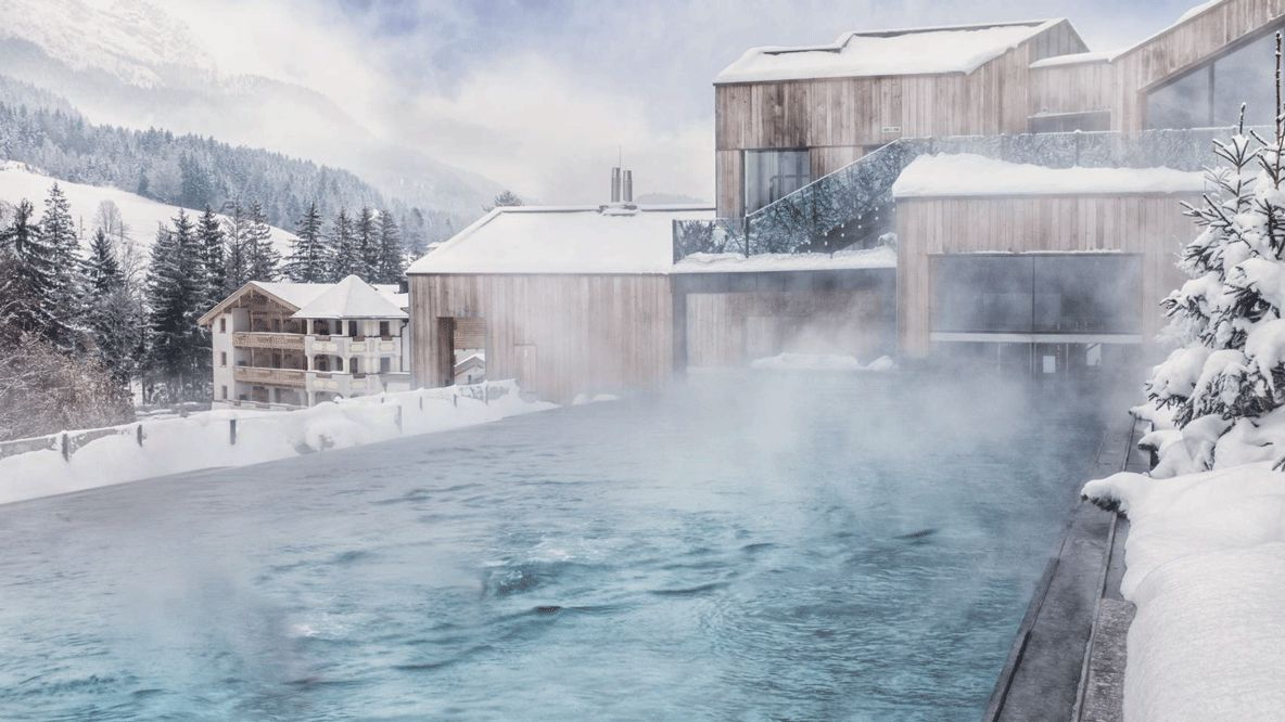 heated pool outside-hotel forsthofgut austria