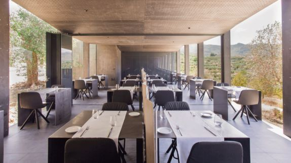 hotels in heaven guadalest vivood restaurant dining culinary indoor dishes table glass outside tree chair dinner