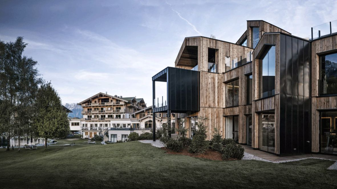 hotels in heaven hotel forsthofgut accommodation meadow sky fin tree deckchair house mountain luxury