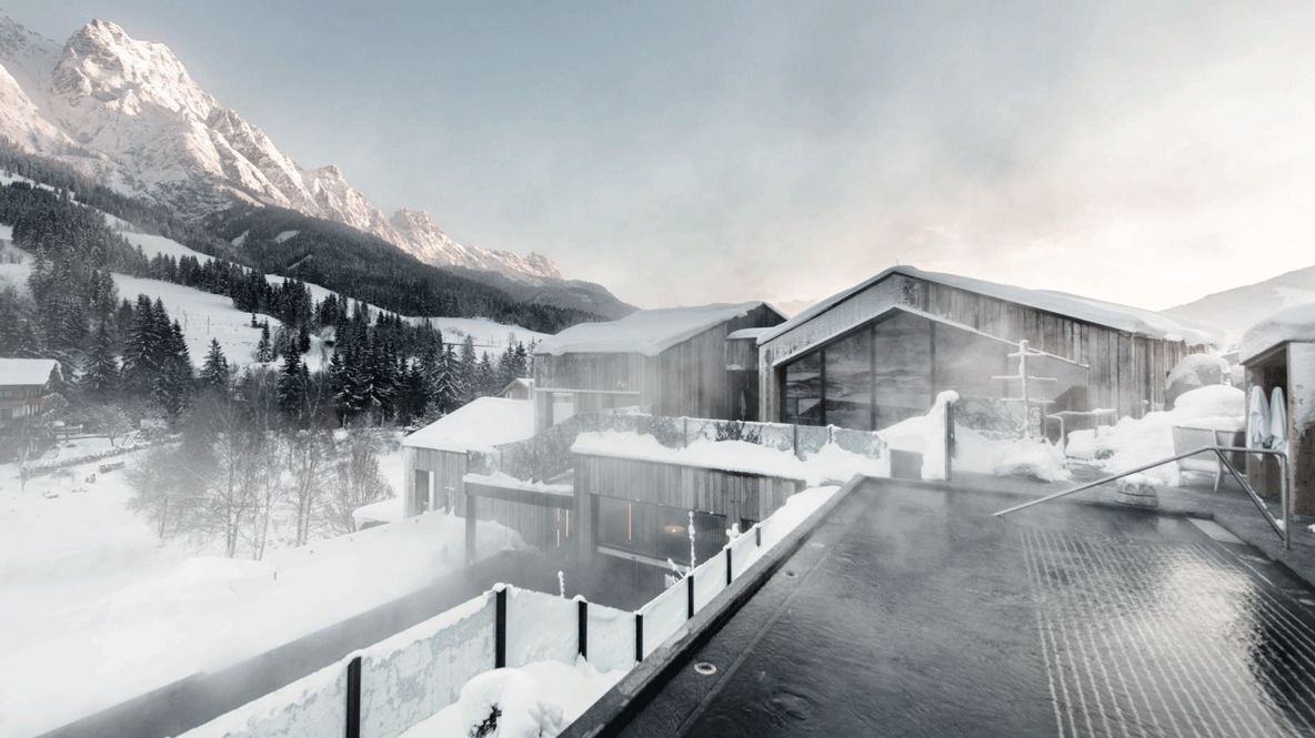 heated outdoor pools-hotel forsthofgut austria