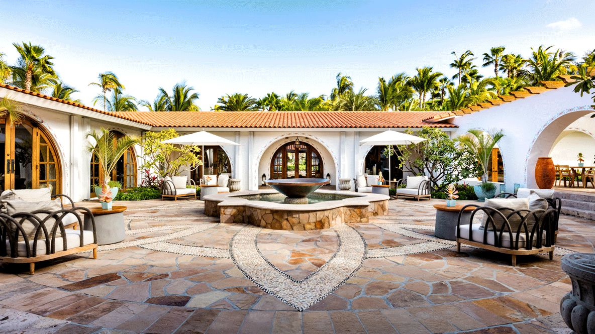 hotels in heaven one and only palmilla accommodation palm trees fountain summer plants house chairs beautiful
