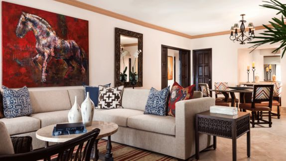 hotels in heaven one and only palmilla living room suite apartment couch cozy pillow mirror vase painting luxury hotel